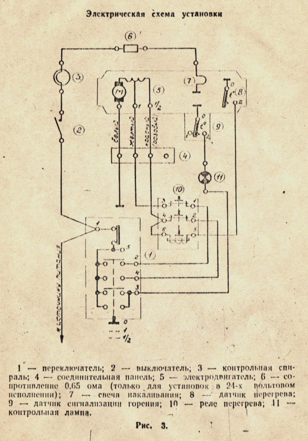Схема электрическая компрессор калибр к