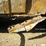 29.  Отсверленный остаток крыла в районе порога