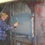 Фото 19 Окраска отремонтированной двери в малярном стенде