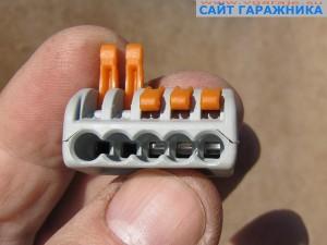 Фото 2 Универсальный клеммный соединитель на 5 проводов