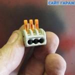 Фото 3 Универсальный клеммный соединитель на 3 провода