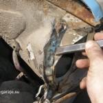 7. Удаление остатков крыла зубилом