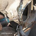 8. Удаление остатков крыла отгибанием пассатижами