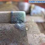 7. Прихват без присадка на металле толщиной 1,5 мм