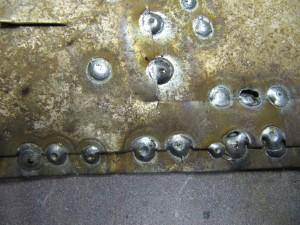Сварные точки: сварка внахлёст тонкого металла точками
