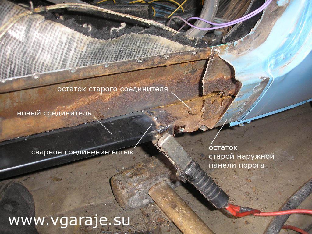 Ремонт порогов автомобиля своими руками: фото, видео