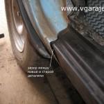 Фото 14 Примерка наружной панели порога - видна ужасная щель