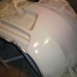 Поверх грунта нанесена жидкая шпатлёвка от Новол