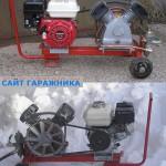 Компрессор с приводом от бензинового двигателя