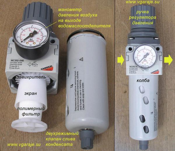 Итальянский водомаслоотделитель от фирмы Камоцци