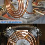 Для охлаждения воздуха организован теплообменник из медной трубки