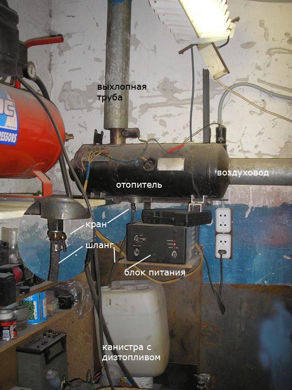 Компоновка атомки с верхним выхлопным патрубком