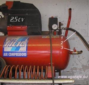 Отбор воздуха от компрессора непосредственно из ресивера