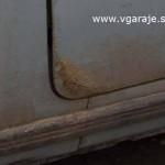 Коррозия передней двери Ваз - 2106 в типичном месте