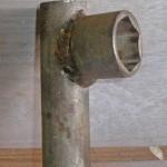 Самодельный ключ для отворачивания гайки ступицы Ваз - 2109